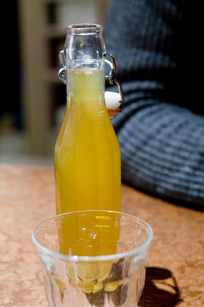 Limonadă organică la Franco Manca în Londra