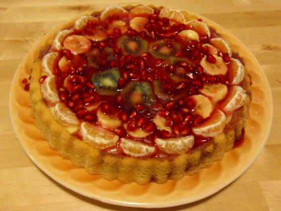 Tartă cu fructe și budincă de vanilie