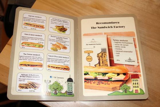 meniu sandwich factory
