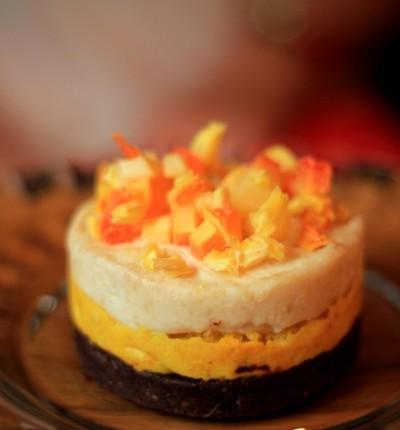 desert raw cu mango si papaya