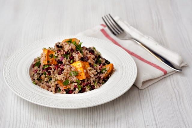 quinoa cu cartof dulce si rodie