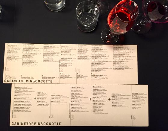 Meniu Cabinet de Vin & Cocotte