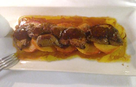 foie gras cu mere caramelizate