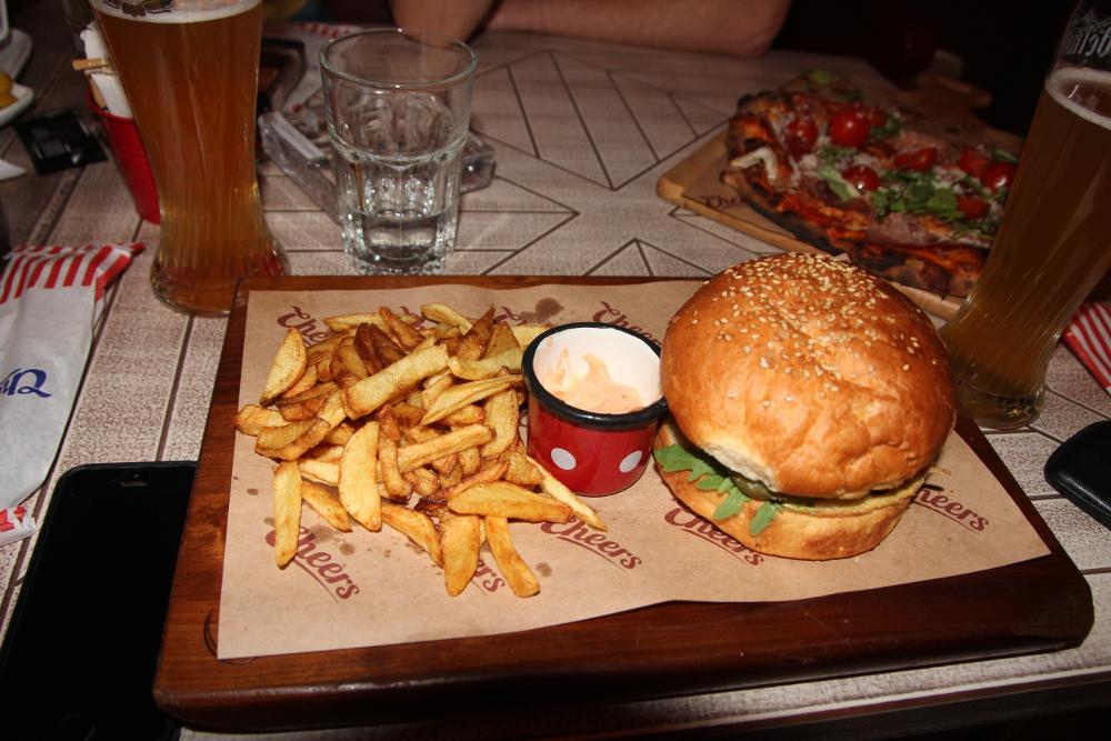 Salmon Burger - Cheers