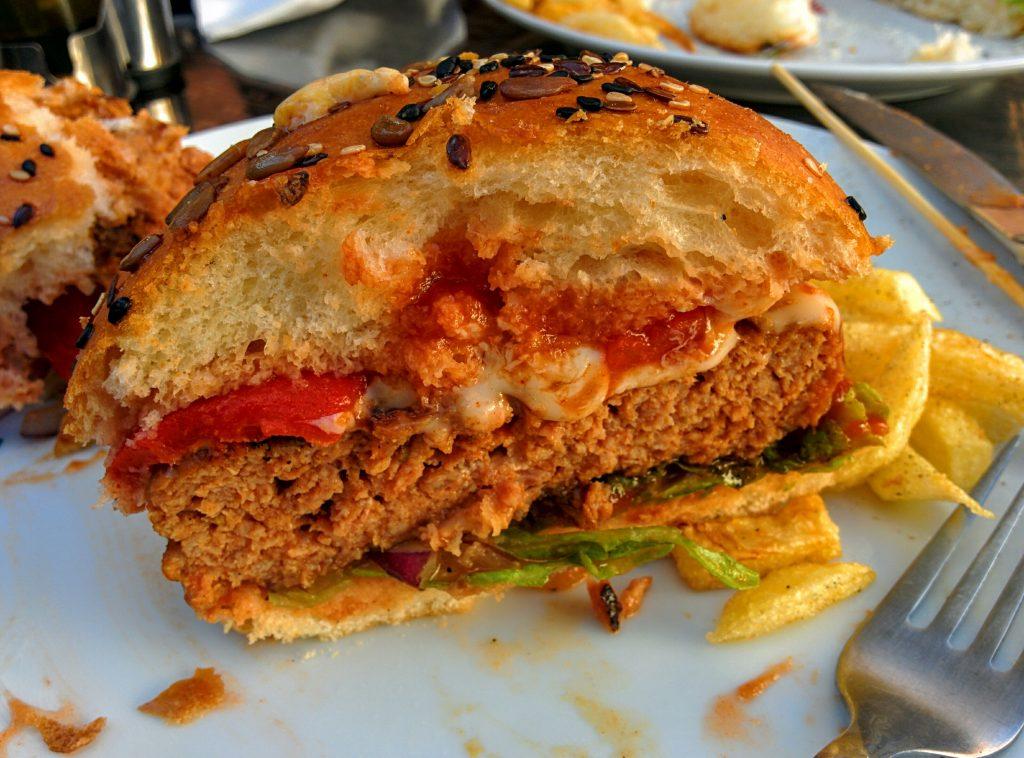 Burger O'pork sectiune
