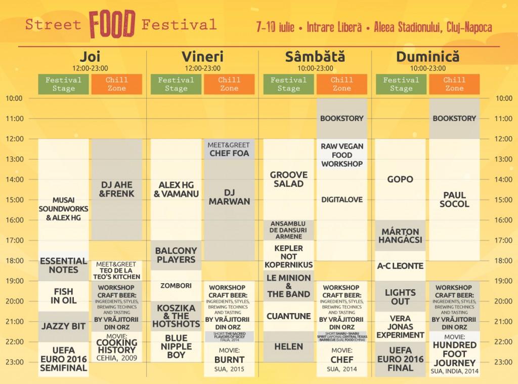 Street Food Festival program