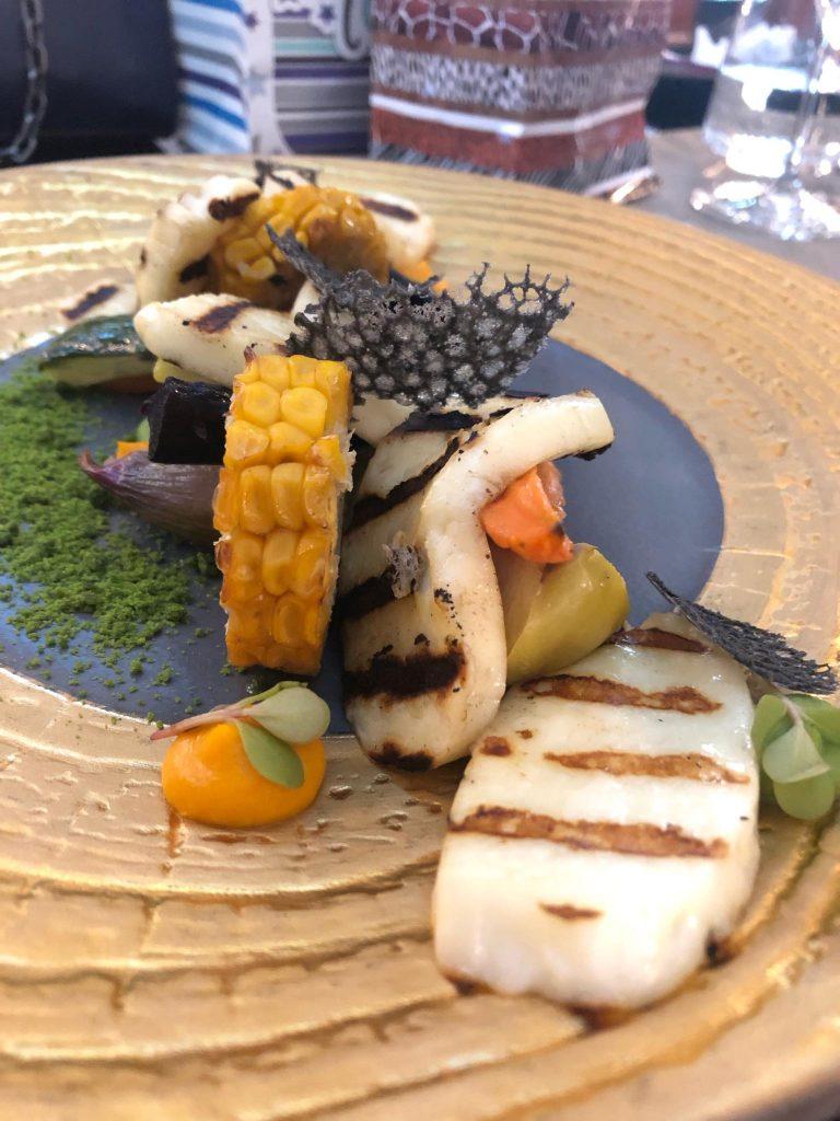 Halloumi la grill cu legume coapte | Restaurant Merlot Timișoara