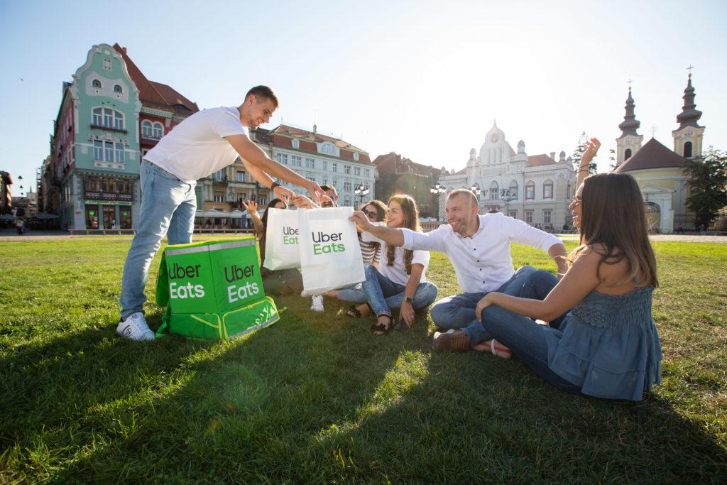 Uber Eats s-a lansat în Timișoara
