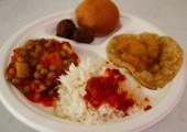 Sabji cu orez basmati chiftele cu legume puri cu chutney de mere la Radha Cuisine in Timisoara