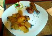 Meniul zilei la Rustica Timisoara Cartofi cu pulpe la cuptor