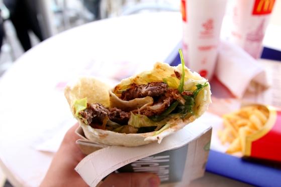 Beef Maxi Wrap la McDonald's în Timişoara
