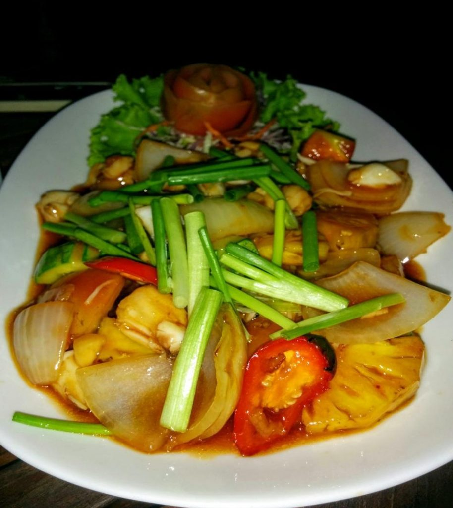 Carne de Crab cu Ananas