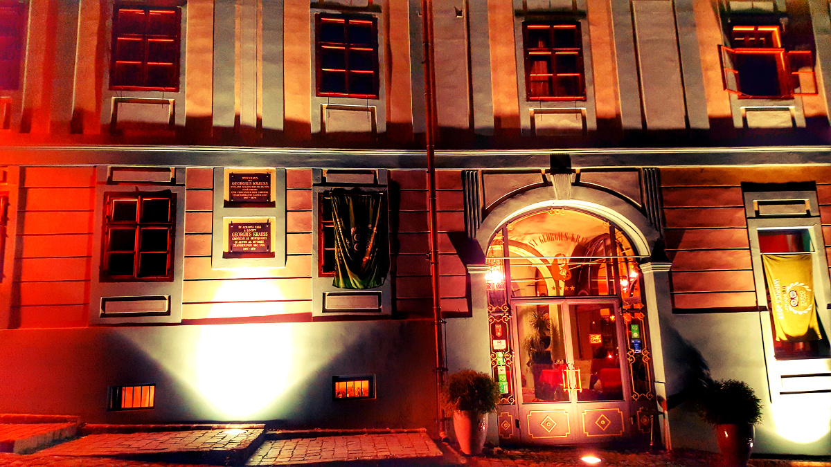 Casa Georgius Krauss Sighisoara noaptea