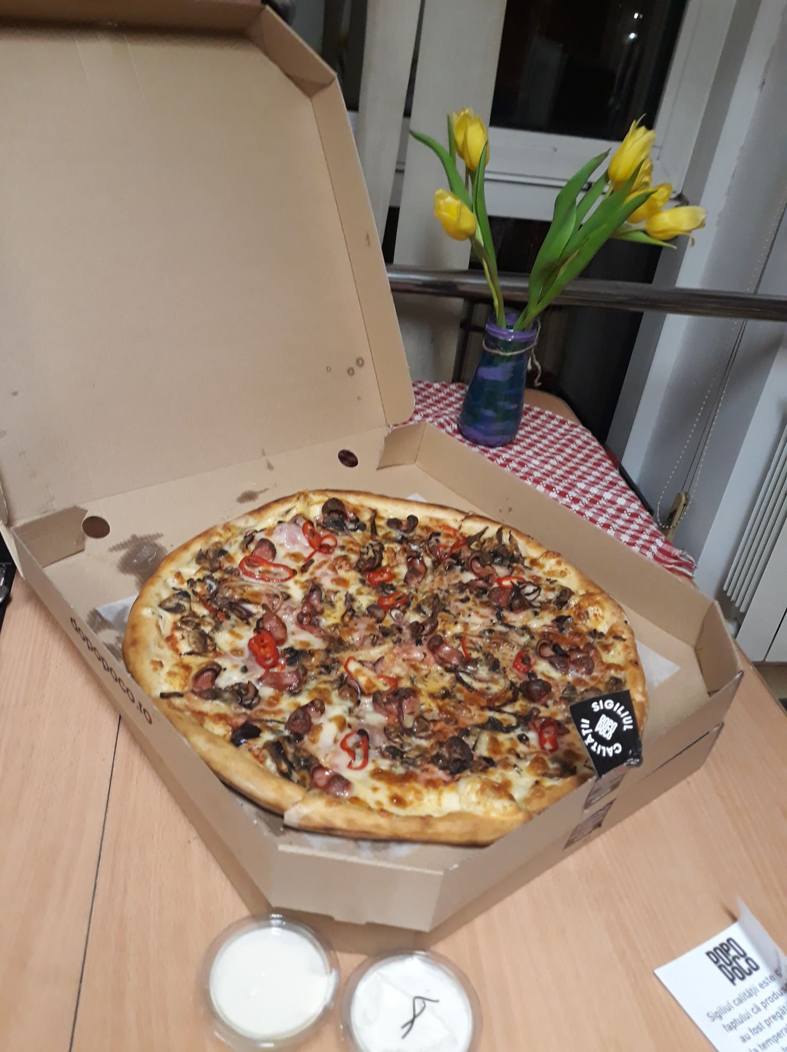 pizza dopo poco