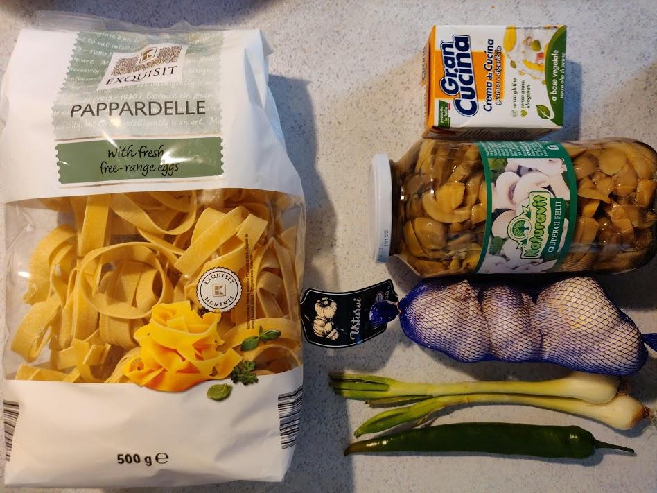 Papardelle picante cu ciuperci - Ingrediente